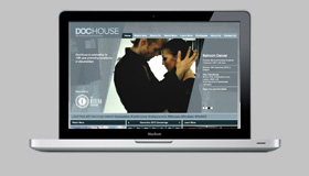 Dochouse site homepage on a laptop