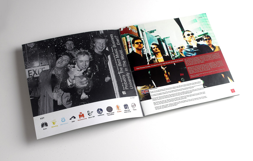 EMI brochure design spread 1