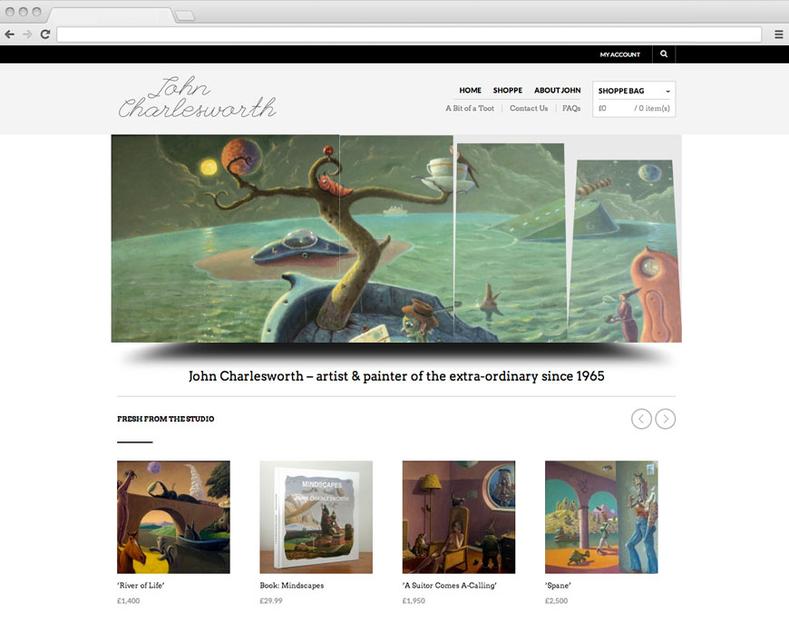 Charlesworth homepage website design