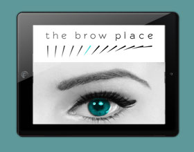 Brow Place Bath web design thumbnail
